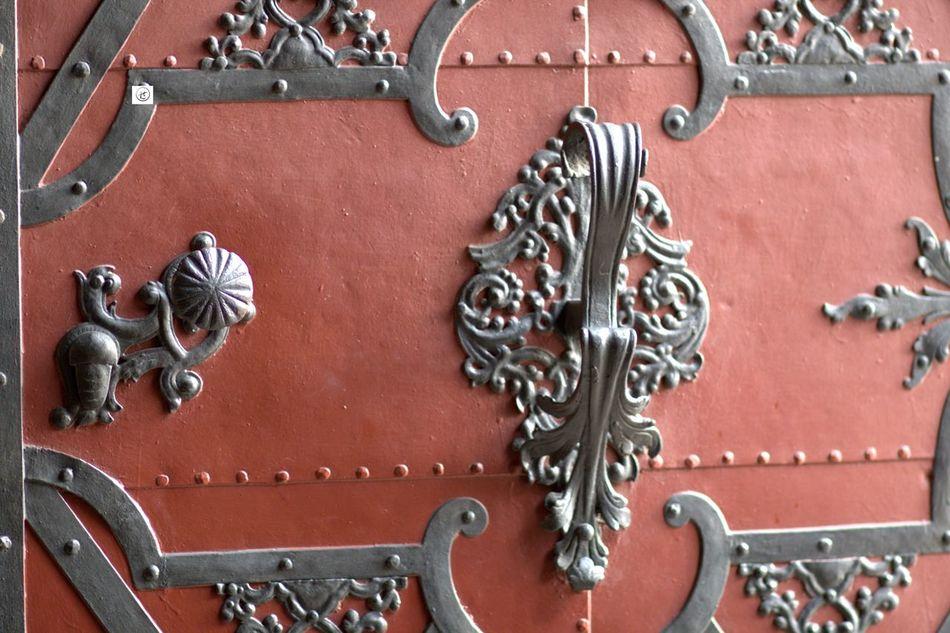 Door Ironmongery Metal No People Old Part Of Prague Red