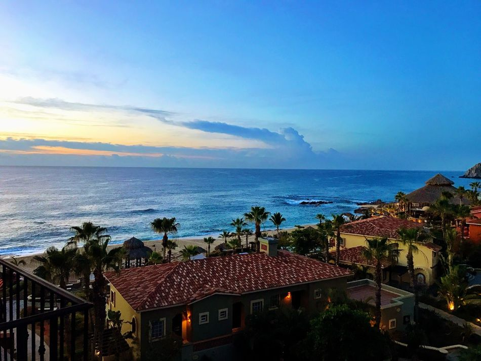 Morning Sunrise Sunrise_sunsets_aroundworld Sea Horizon Over Water Water Built Structure Building Exterior Roof Architecture Nature Scenics Beach Tree No People Outdoors Day Tranquility Resort Pacific Ocean Pacific Ocean View Roomview