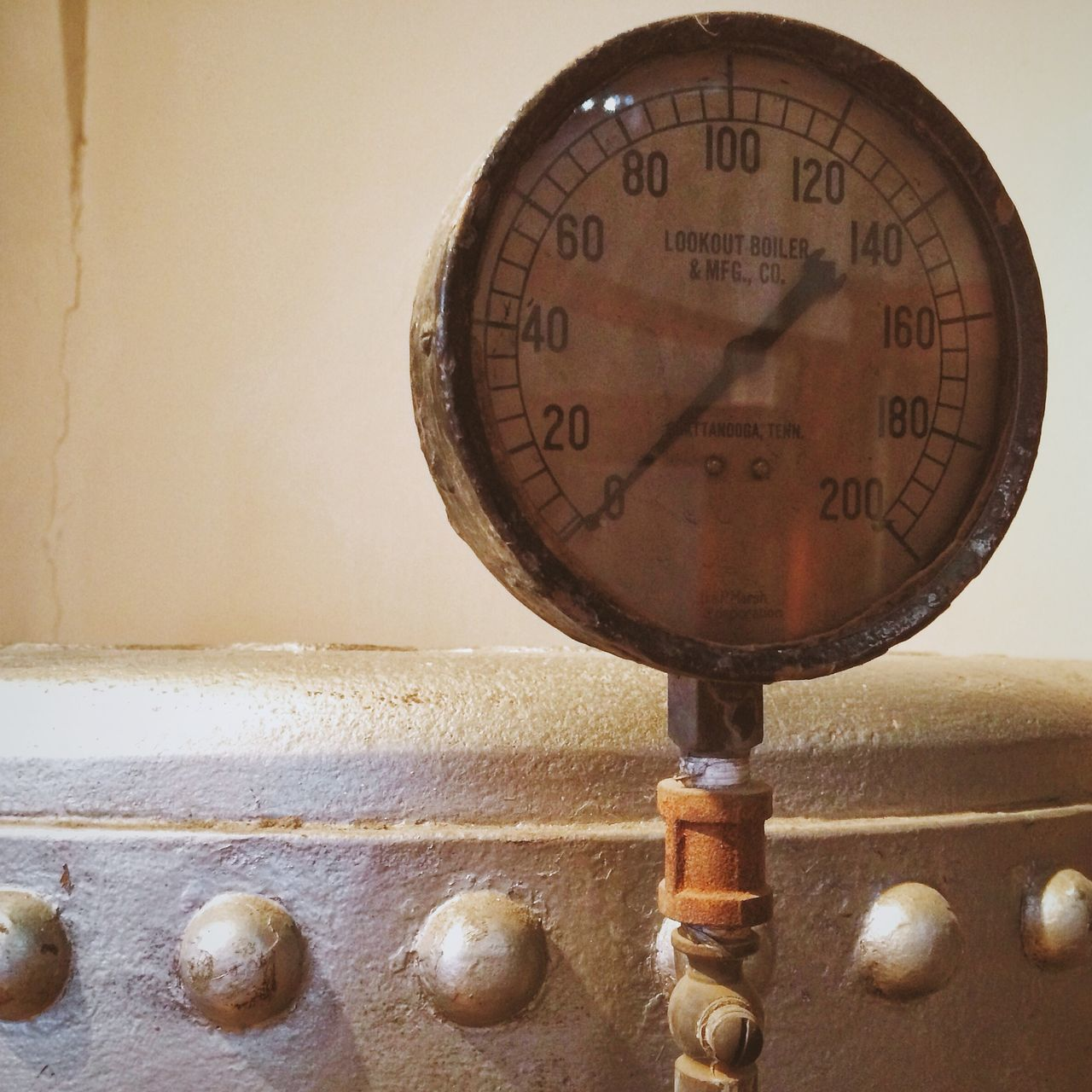 Close-Up Of Pressure Gauge