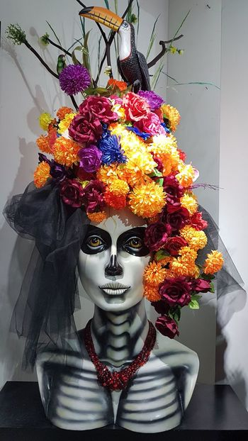 Catrinas Catrinas And Catrins Mexico Tradition Dia De Muertos México Culture Colors Multi Colored Mexican Culture Mexican Art Mexican Pride Tlaquepaque Art Jalisco, México Only Women One Woman Only Adults Only Front View Adult One Person Portrait Indoors  People Looking At Camera Women One Young Woman Only