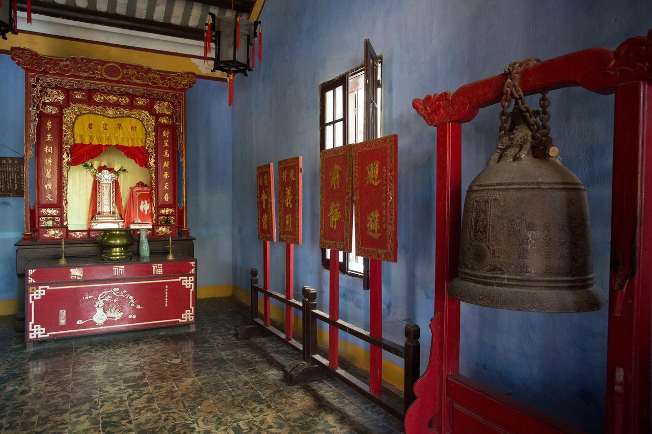 spirituality, red, no people, religion, indoors, architecture, place of worship, built structure, day