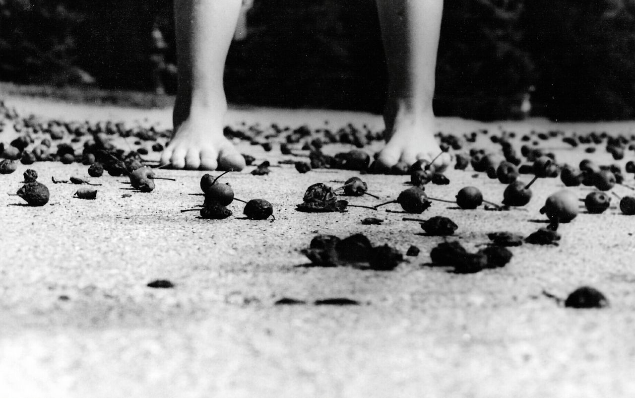 low section, human leg, real people, one person, human foot, human body part, barefoot, selective focus, lifestyles, day, outdoors, childhood, men, close-up, human hand, people