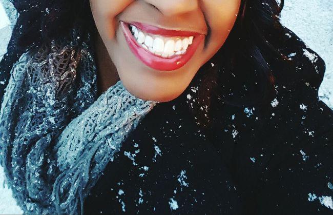 Smile Girl Power Selfphotography Snowflakes Falling On Me  Snowflakes Happy Snow