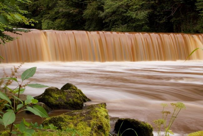 The River Almond near Cramond. The peat in the water gives it the brown colour. River Almond Long Exposure Waterfall Cramond Edinburgh VisitScotland Scotland Peat Canon Canon 100d Tripod ND Filter Cokin