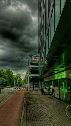 Darkness And Light Dark Clouds Street Photography Modern Architecture On My Way Home