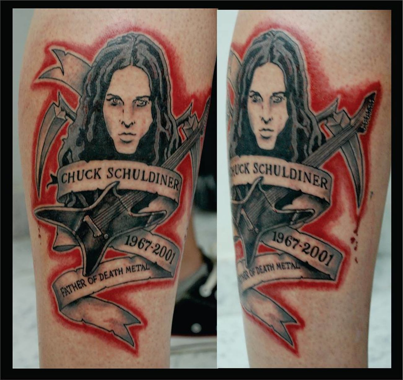 Me Tattoo Ink Chuckschuldiner Death