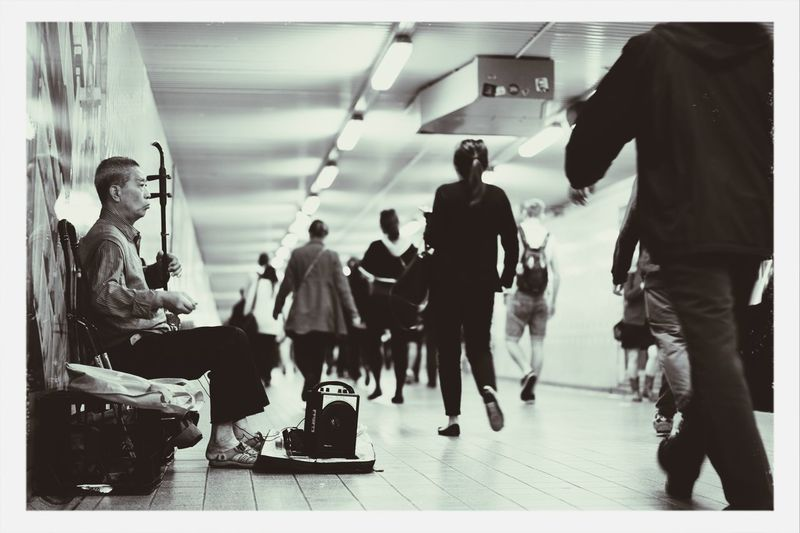 Busking in the busiest tunnels of Sydney First Eyeem Photo