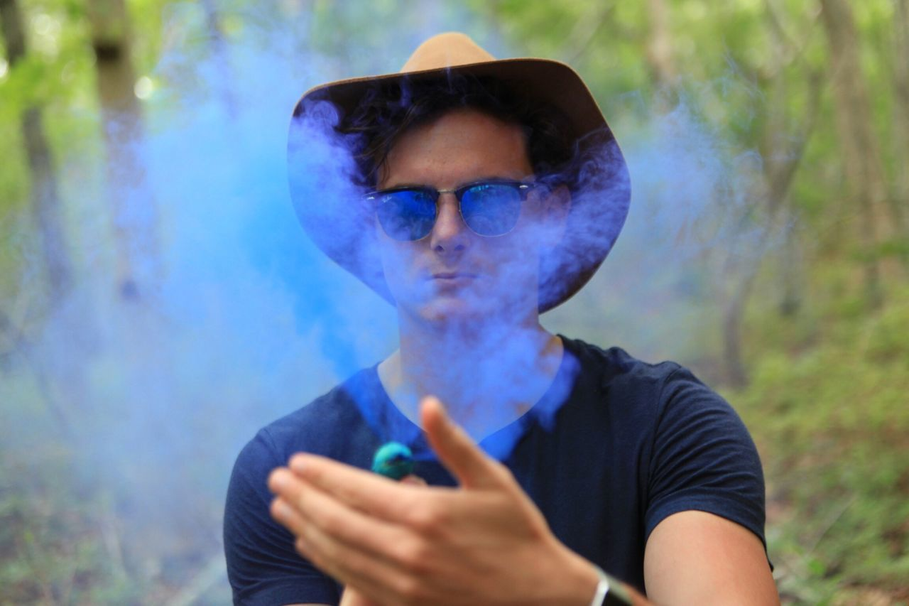 The Portraitist - 2014 EyeEm Awards Smoke and Mirrors. Shot taken of my Twin Brother Abe Louw