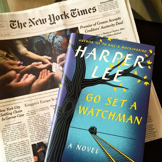 My new Hardcover Book by Harper Lee sequel to To Kill A Mocking Bird but written before it: Go Set A Watchman