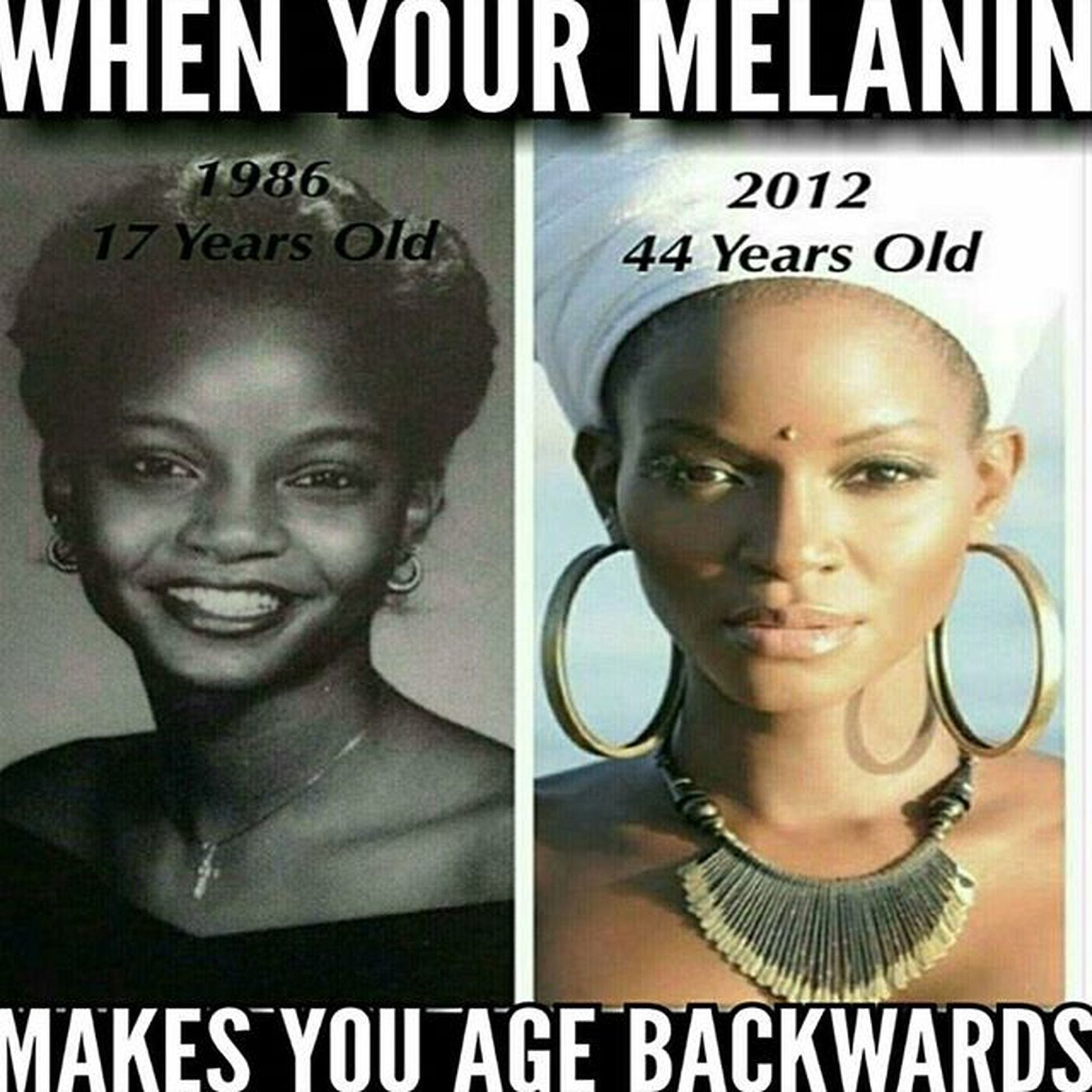 I'm not intentionally dissing any other race, but can your skin do this? I don't think so! We don't get wrinkles! Teamnowrinkles Myblackdontcrack Melanin Africanqueens Blackgoddesses Melaninonfleek Chocolateladies Blackgirlsrocks Myblackisbeautiful Dontforgetevolutionaryprocesses Becauseyallneverhadachance