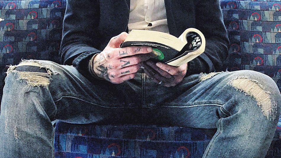 Only Men One Person Adults Only One Man Only Adult Men People Indoors  Close-up Day Reading A Book Tatoos Tatoo Art Tatoo