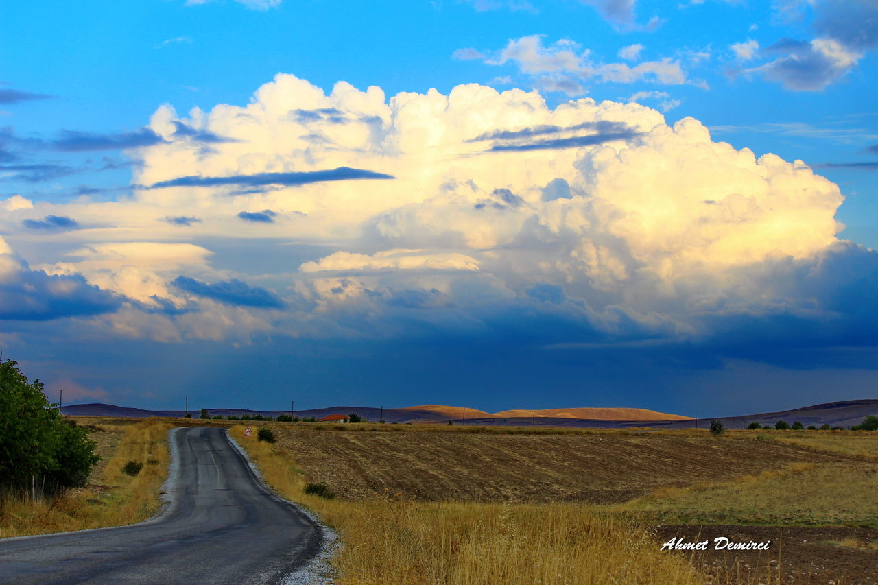 cloud - sky, sky, road, scenics, nature, tranquility, landscape, tranquil scene, no people, beauty in nature, day, outdoors