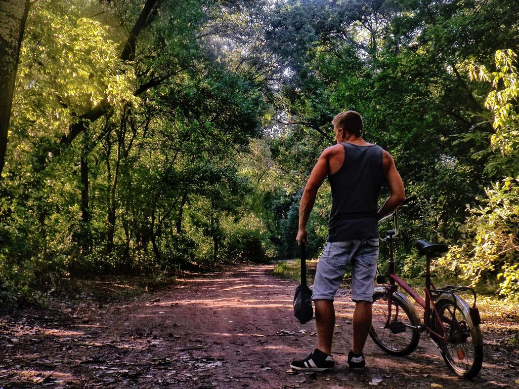 Muscular Man Bike Offroad Nature One Man Only Full Length Real People Leisure Activity Adult Fujifilm Notes From The Underground Tree Outdoors The Week On Eyem Beauty In Nature