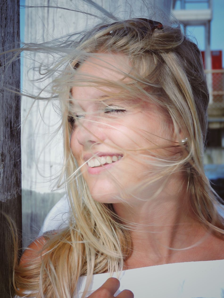 Young Woman Blond Hair Long Hair Headshot One Person One Woman Only Front View Young Adult Only Women Real People Portrait Smiling Happiness Beautiful Woman Close-up Motion Natural Freedom Lifestyle Windy Hair Wind Blowing Natural EyeEm Best Shots