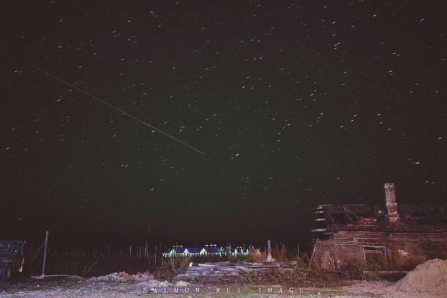 D3100 Nikon 风景 China Travel Scenery Village Neimenggu 内蒙古 Evening Stars 流れ星 夜 星星