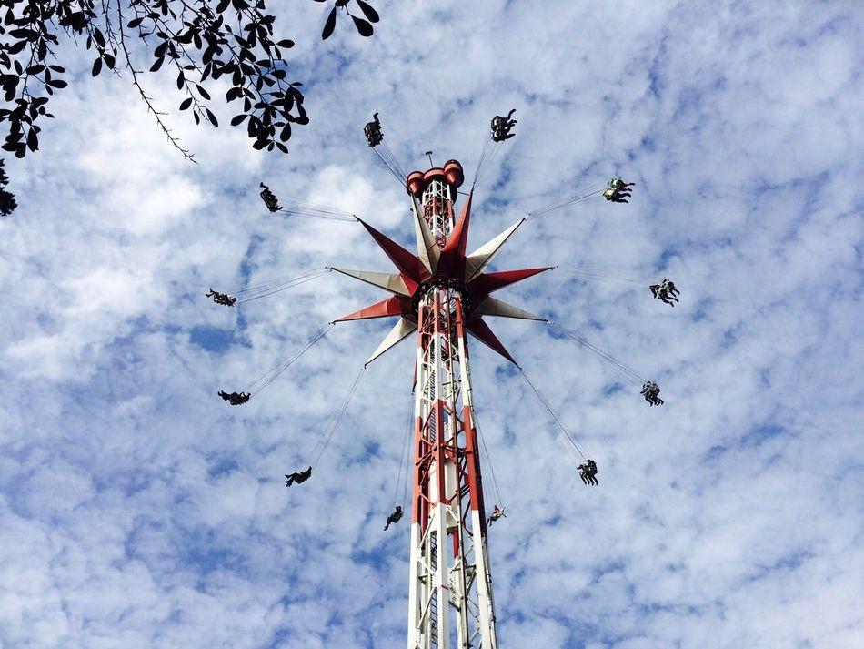 Sky Clouds Themepark Freizeitpark Holiday Park Hassloch Germany Deutschland Holiday Perspective Fun Leisure Activity Summer Happiness