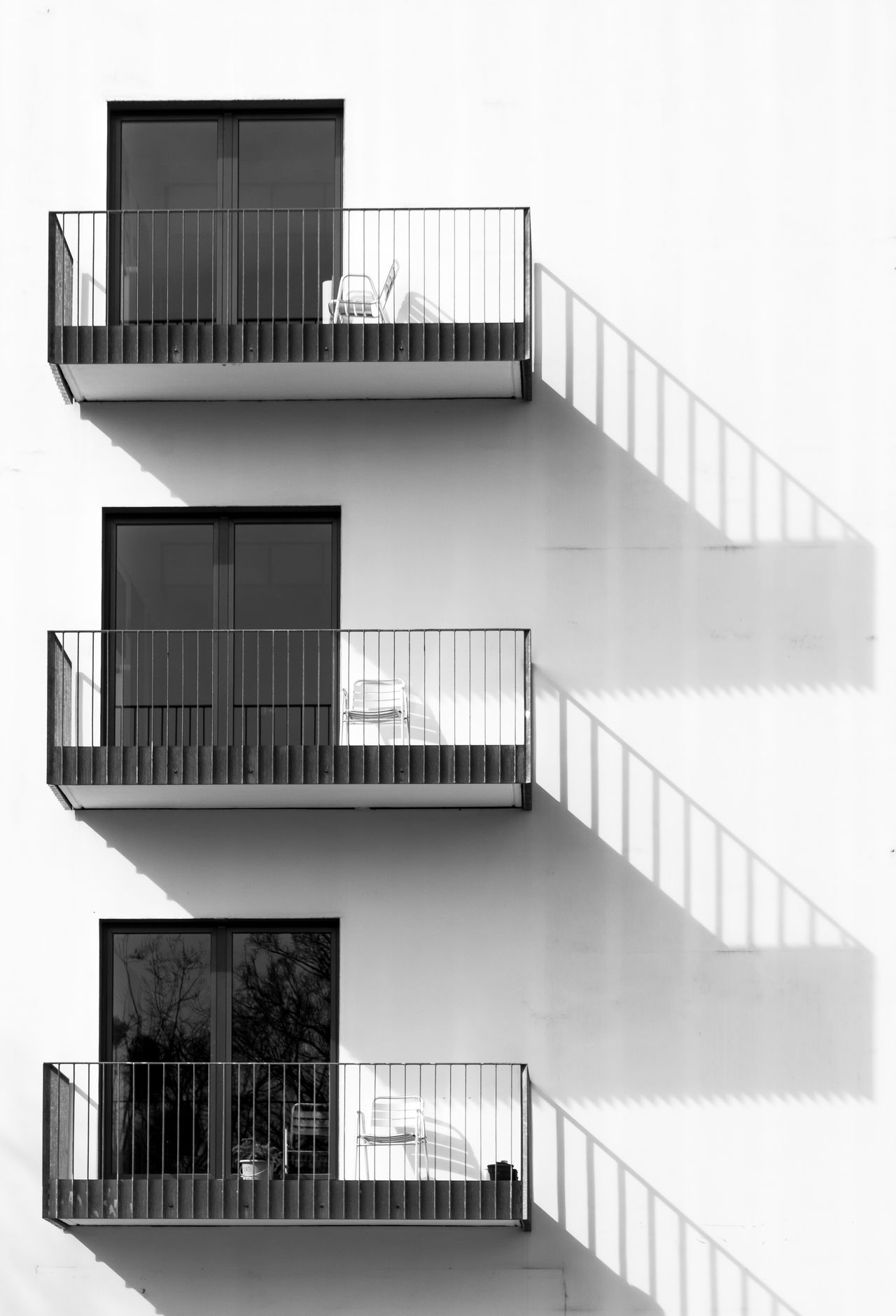 Architecture Architecture_collection Balcony Berliner Ansichten Black And White Blackandwhite Building Exterior Built Structure City Day EyeEm Best Edits EyeEmBestPics Industry Light And Shadow Minimalism Minimalistic Modern No People Outdoors Sky Urban Geometry