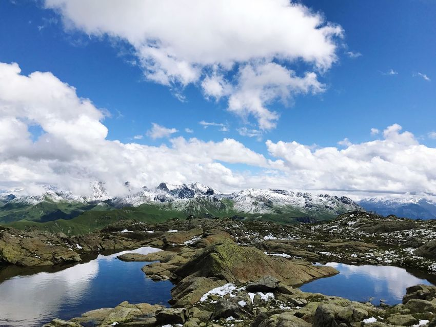 Alps Beaufort  Beauty In Nature Scenics Nature Tranquil Scene Tranquility Water Sky Idyllic Day Cloud - Sky No People Mountain Outdoors Cold Temperature Landscape Lake Snow Iceberg