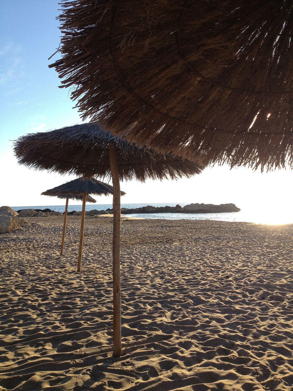 Beautiful stock photos of europe, Beach, Beach Umbrella, Catalonia, Clear Sky