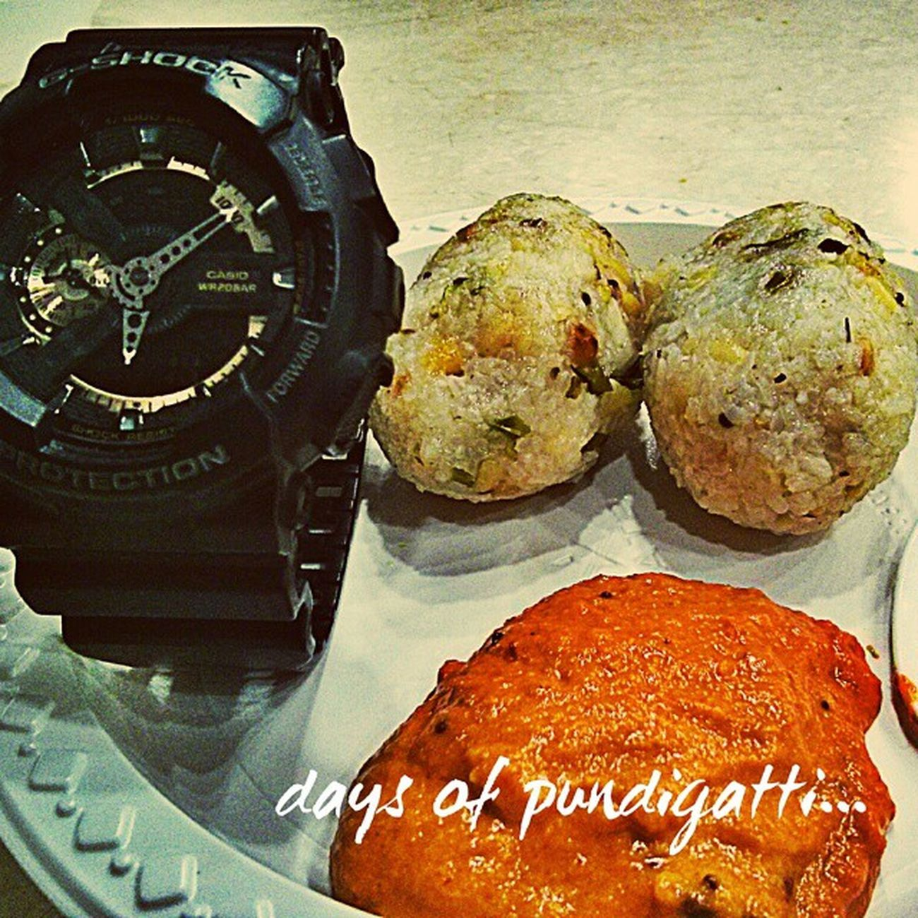 Pundigatti.... Spicy dish made of rice. One of my favorite!@a2b A2b Food Foodie Kannada Pondicherry Tastebuds Gshockwatch Gshock Watchesofinstagram Watchoftheday Watchoftheday Weekends Saturdays Wearethebest Bestfriend