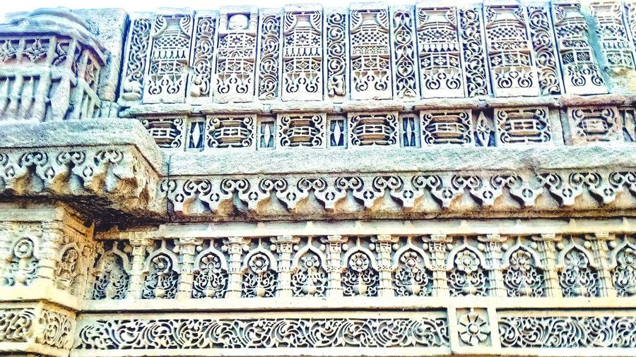 vaph Pattern Background Heritage Stepwell Adalajstepwell Stonework Stonewall