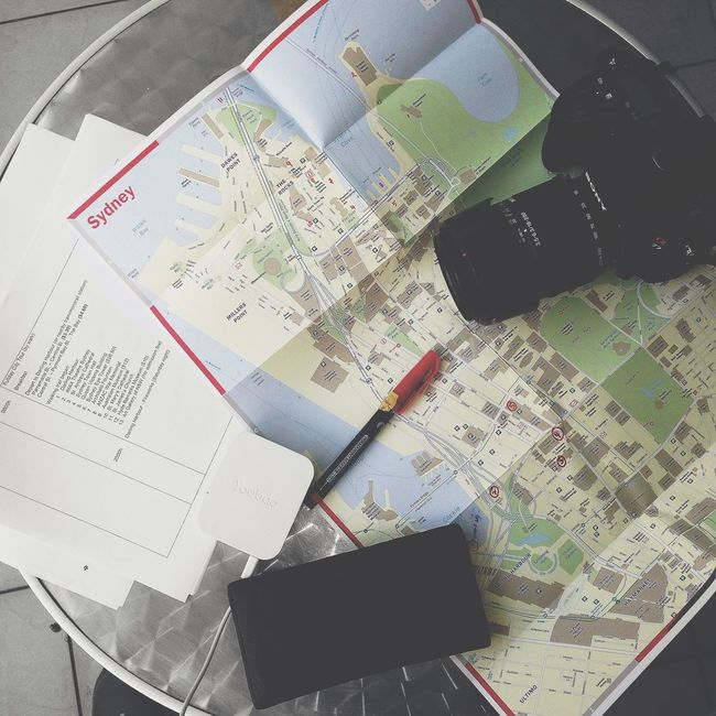 Paper View ~ Maps, Itinerary, Passport, Boarding passes. Check This Out The Week Of Eyeem Eye4photography  Travelphotography Traveling EyeEm Gallery Taking Photos Australia Sydney EyeEmBestPics