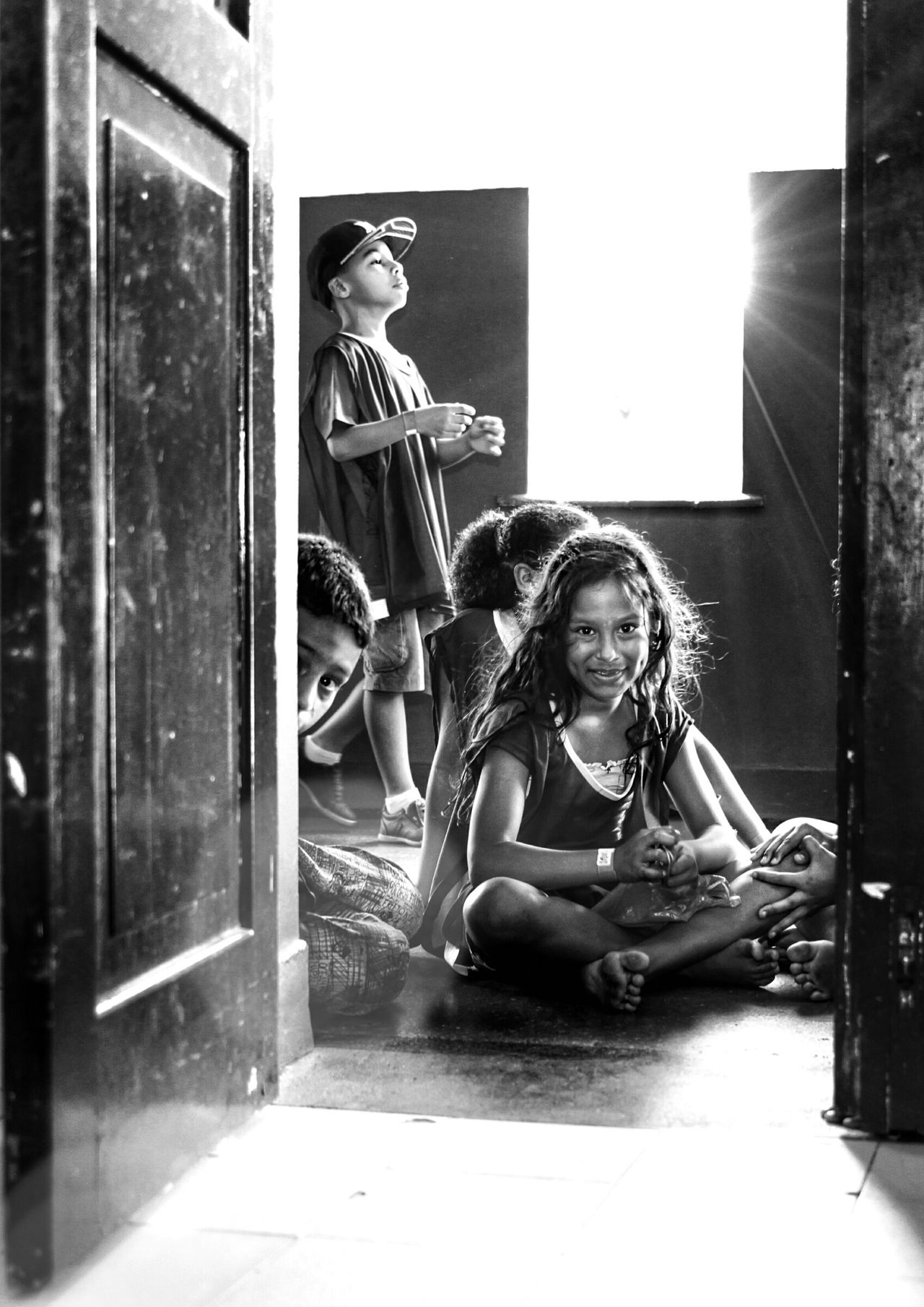 Let The light come in Archival People Indoors  Children Black And White Black & White Children Photography Light And Shadow Social Photography Social Documentary