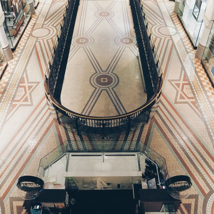 Arts Culture And Entertainment Travel Destinations Architecture Indoors  Low Angle View Built Structure No People Day Pattern Queen Victoria Building QVB