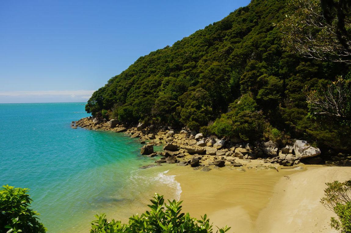 Abel Tasman National Park Beach Blue Coastline Horizon Over Water Idyllic Landscape New On Eyeem No People Scenics Travel Destinations Water