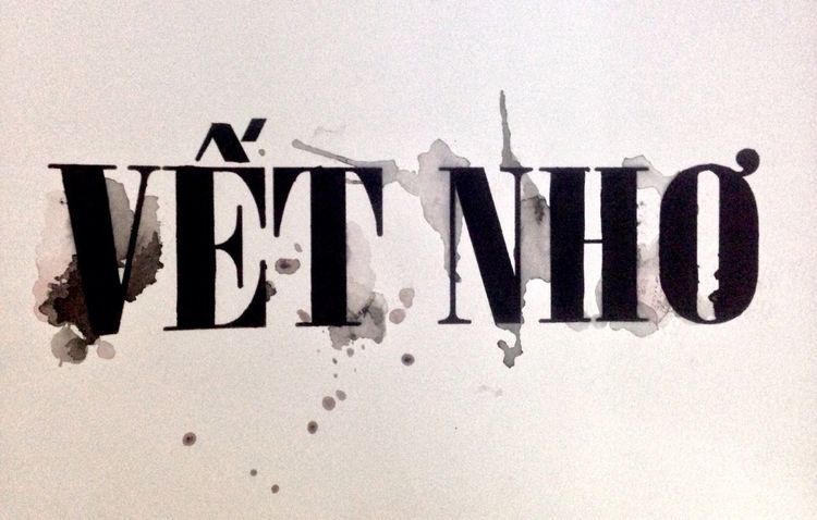Handdrawntype Typography HandPainted Black & White Bí quá rồi :'(