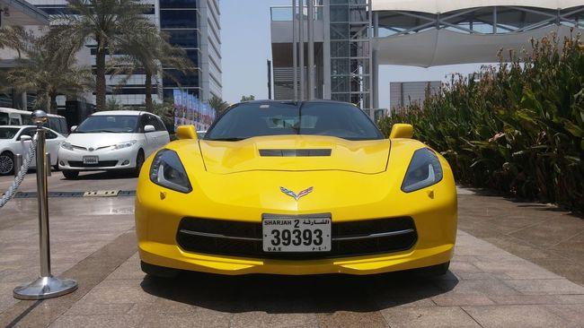 Yellow City Car Day No People Android Photooftheday Picoftheday Followme Eyemphotography 2016 LGG3 LGg3photography Like UAE Dubai Corvette Speed Sport Cars Noedit
