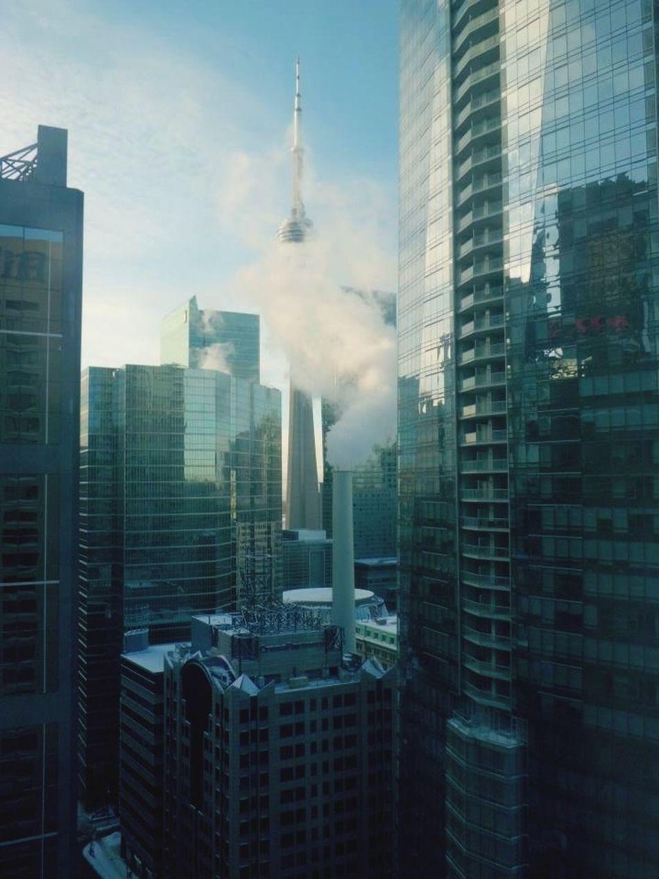 EyeEmNewHere Skyscraper City Architecture Travel Destinations Torontophotography Toronto, Canada Cntower