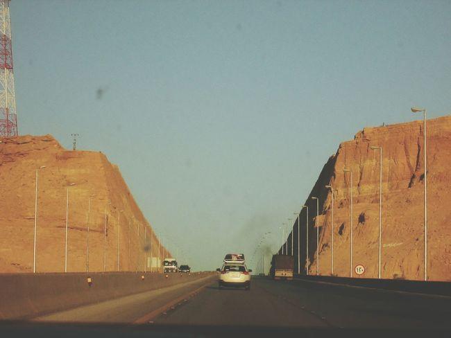 Riyadh Makkah Highway, K.S.A. Traveling Highway Roadtrip