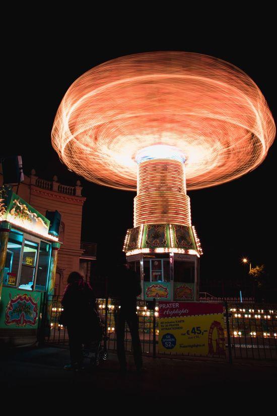 Vienna Prater Park Amusement Park Amusement Park Ride Carousel Illuminated Nightlife EyeEmNewHere