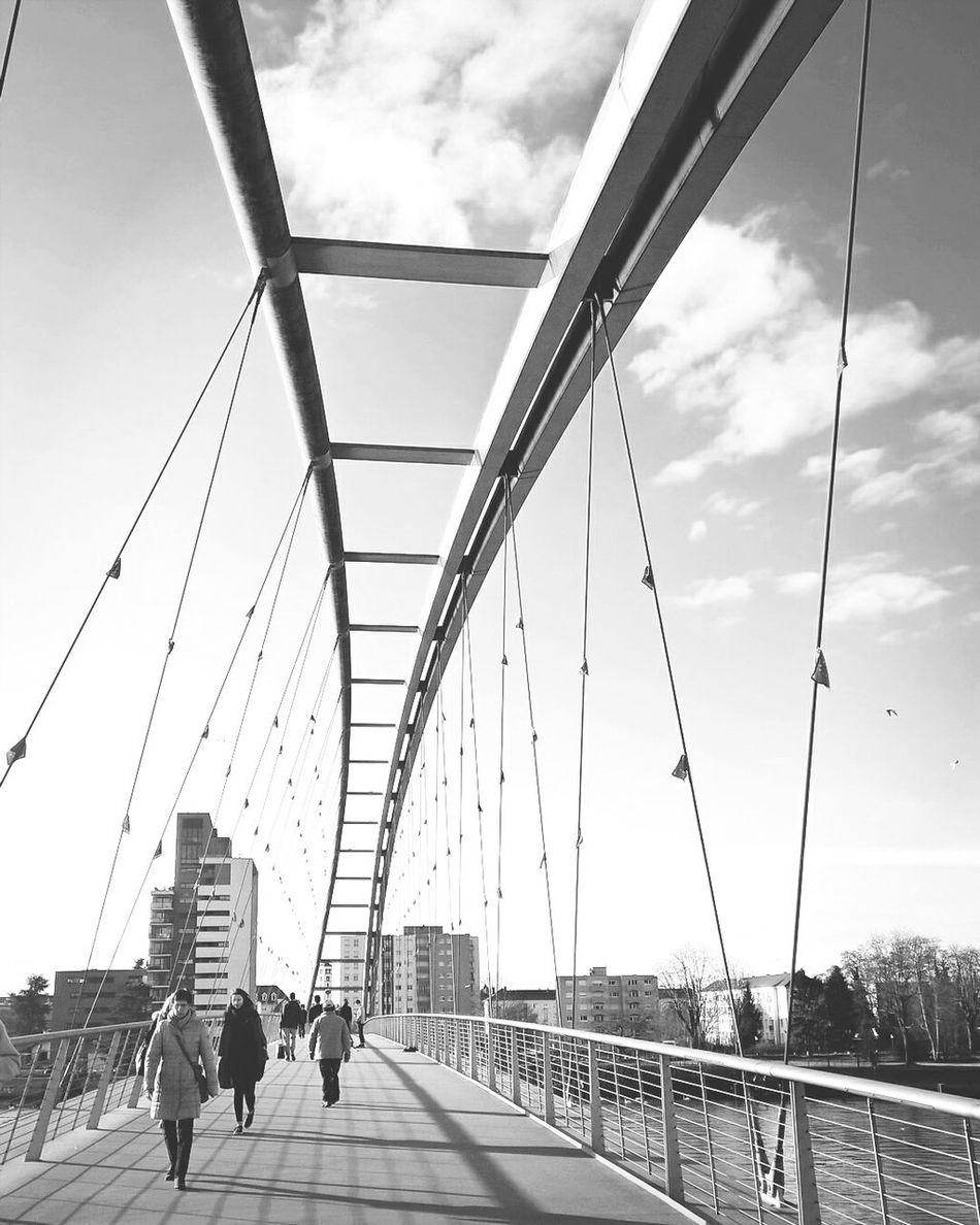 Bridges Walking Around Blackandwhite