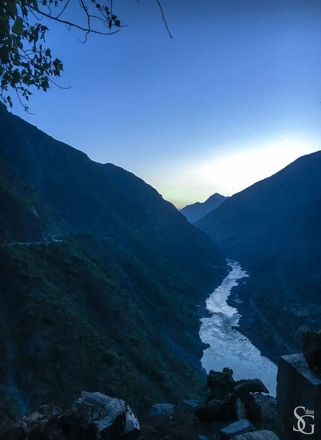Sunrise over Indus Beauty In Nature Blue Earlymorning  Idyllic Landscape Majestic Mountain Mountain Range Mountains Mountains And Sky Nature No People Outdoors Pakistan River River Indus Scenics Sky Sunrise Tranquil Scene Tranquility