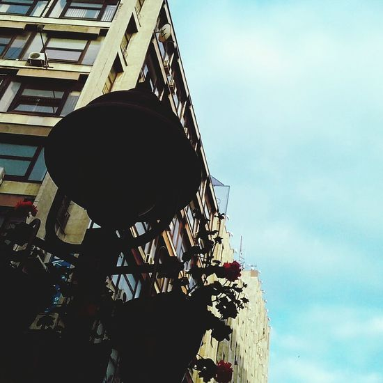 Low Angle View Outdoors Architecture Built Structure Day Building Exterior No People Sky City Close-up street lamp Belgrade,Serbia Cityscape Modern City Architecture Knez Mihajlova Street In Belgrade