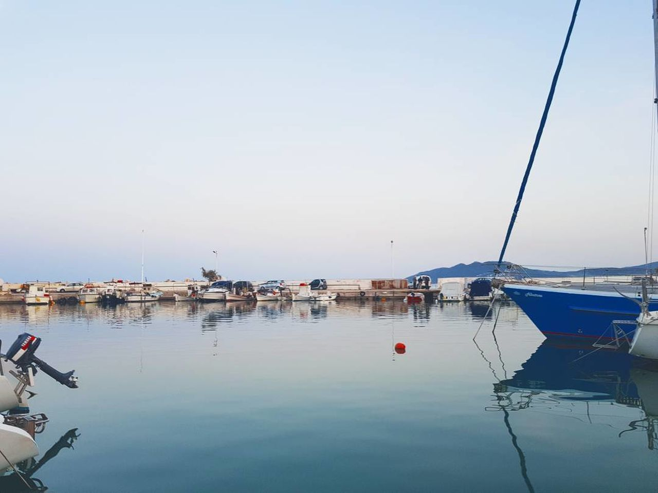 Sea Water Clear Sky Nautical Vessel Nature Reflection Only Men Beauty In Nature Sky Day Sky Collection Skylovers Vscocam Vscodaily Greece Hellas First Eyeem Photo