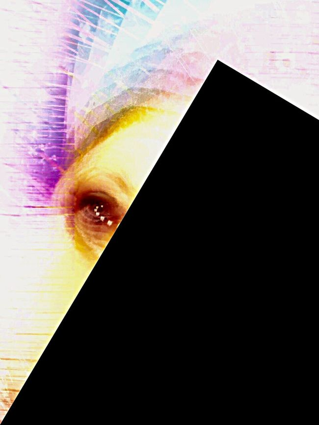 The eye behind self imposed blindness is trying to look now. IPhoneArtism NEM Avantgarde The EyeEm Facebook Cover Challenge The Good Eye Series Abstractart Abstract Me Abstractions In Colors Multiple Layers NEM Self Behind The Veils