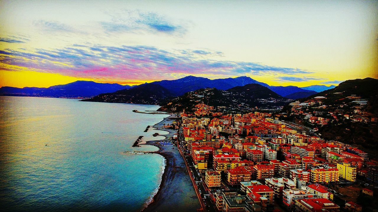 Tramonto Mare Lungomare Costazzurra Sea Sun Vista Drone Dji Phantom 3 Drone  First Eyeem Photo