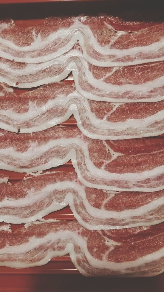Backgrounds Pattern Red Textured  No People Ancient Close-up Wood Grain Food Pork Raw Chabu Chabuton Food And Drink Thailand Thai Raw Pork Bacon! Becon Raw Food Red