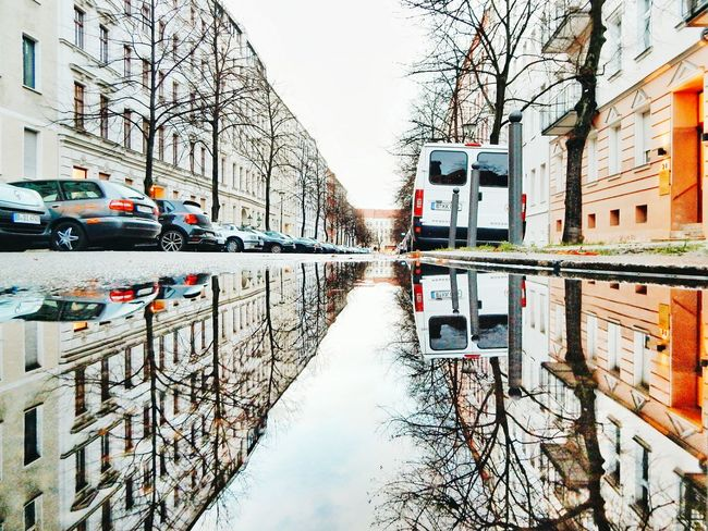 Berlin Berliner Ansichten Puddle Puddleography Puddle Reflections EyeEm Best Shots Eye4photography  Urbanphotography Water Reflections Water Cityscapes Urban Reflections Architecture Architecture_collection Street