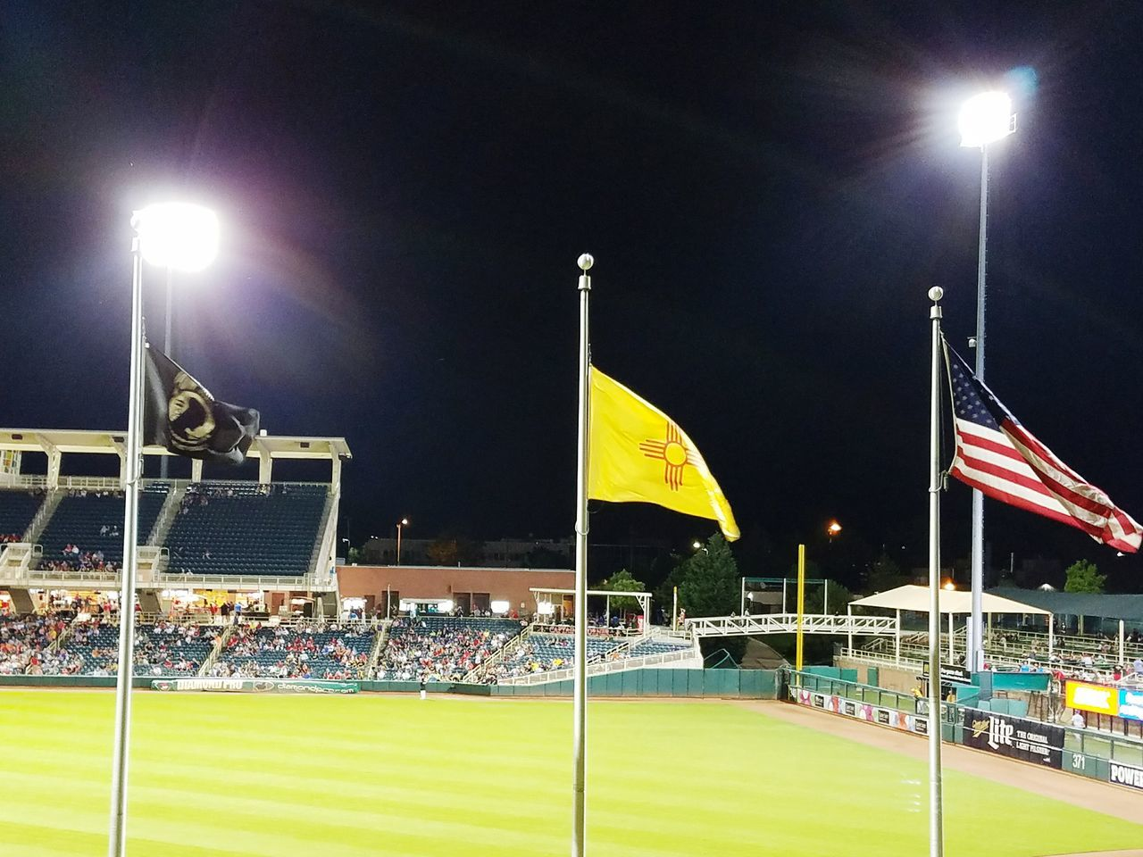 Hanging Out Taking Photos Check This Out Hello World Hi! Enjoying Life Just Having Fun Albuquerque New Mexico Samsung Galaxy S7 Edge Fresh On Eyeem  Beauty In Ordinary Things Simple Pleasures In Life Night Photography Baseball Game Pow Mia Flag New Mexico Flag Crowds Fans