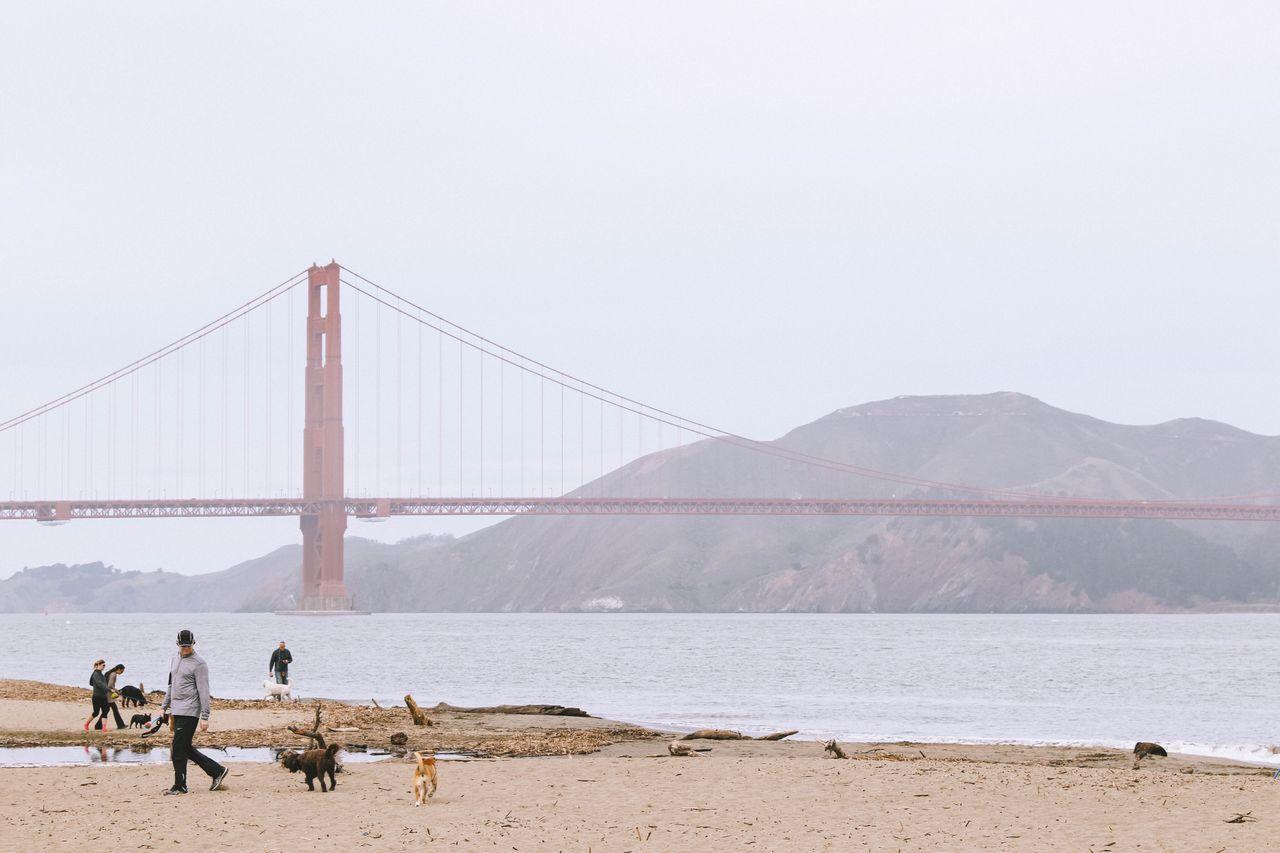 Golden Gate Bridge San Francisco Beach Foggy