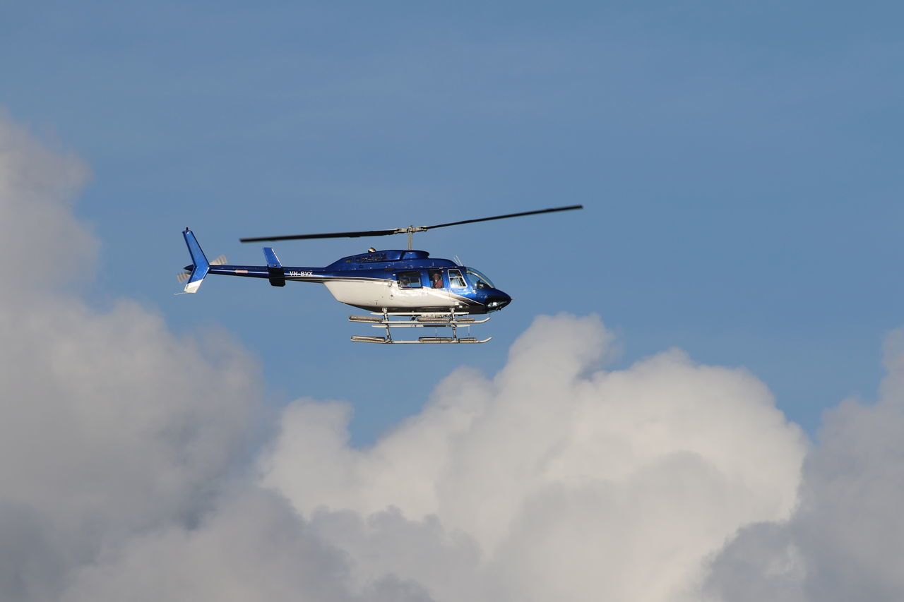 Air Vehicle Cloud - Sky Day Flying Helicopter Mid-air No People Outdoors Sky Speed Transportation