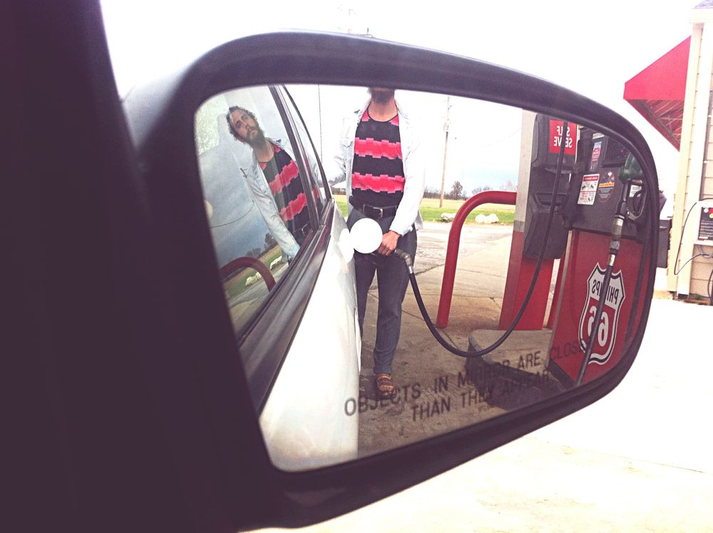 Fuel up Gas Station Getting Gas Guy Pumping Gas Cool Dude Fuel Car On The Road Roadtrippin'