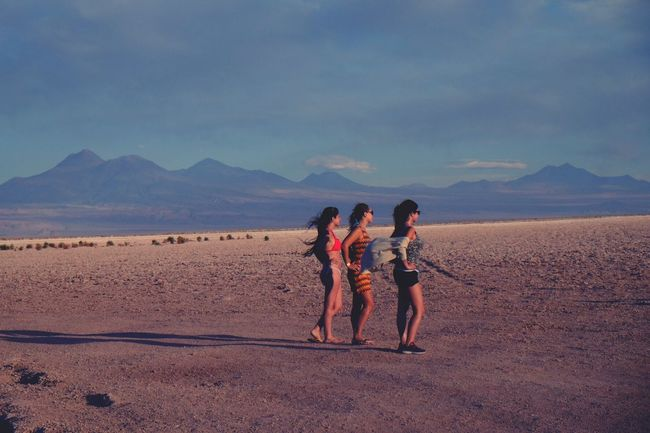 Deserts Around The World posing. Atacama Desert Chile Traveling Mountain View Andesmountains People And Places