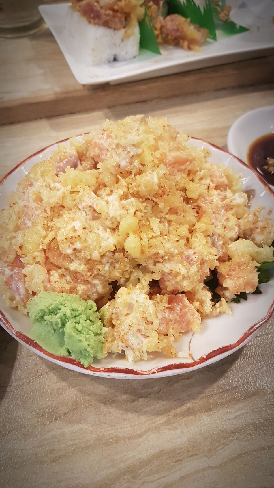 Izakaya Kikufuji Spicy Shake Spicy Salmon Sashimi