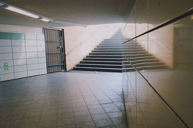 Berlin Taking Photos Underground Vscocam Vscogood VSCO Lonely GDR Era Neutral Pastel Power Mobile Photography Mirror Stairs Concrete Big City