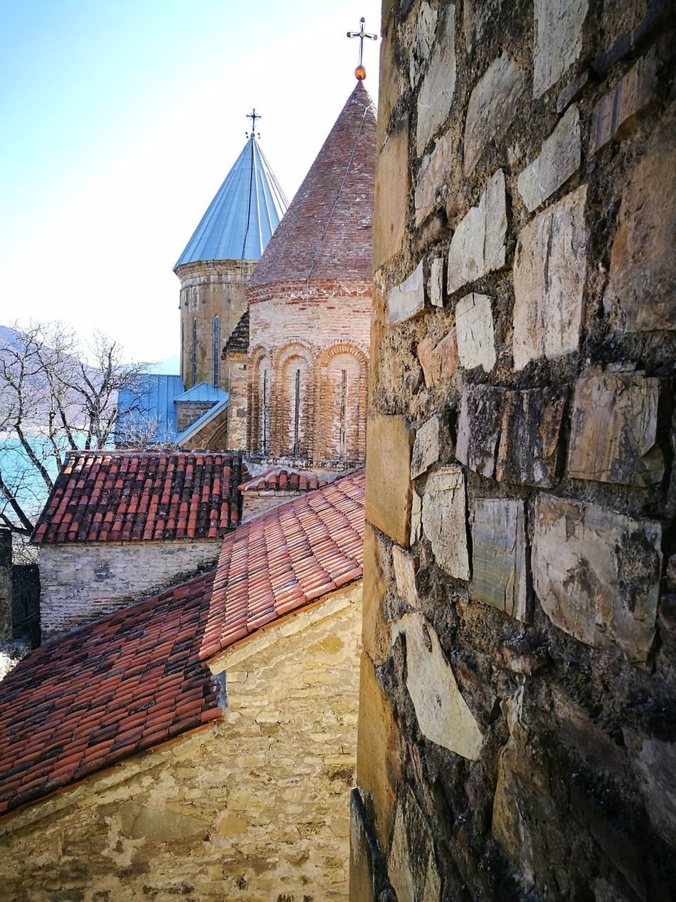 Alignment Ananuri Architecture Brick Brick Wall Brick Wall Building Exterior Built Structure Church Day Georgia HuaweiP9 Monastery No People Oo Outdoors Sky Tiled Roof